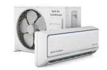 modern air conditioner system, 3D rendering