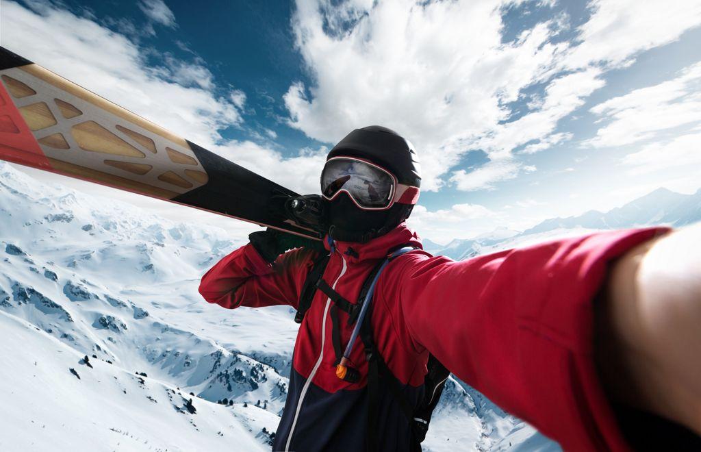 Skier takes a Selfie